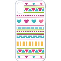 Geometry Line Shape Pattern Apple Iphone X Seamless Case (white)