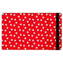 Christmas Pattern White Stars Red Apple Ipad 2 Flip Case by Mariart