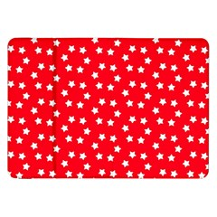 Christmas Pattern White Stars Red Samsung Galaxy Tab 8 9  P7300 Flip Case