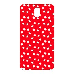 Christmas Pattern White Stars Red Samsung Galaxy Note 3 N9005 Hardshell Back Case