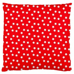 Christmas Pattern White Stars Red Standard Flano Cushion Case (one Side) by Mariart