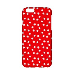 Christmas Pattern White Stars Red Apple Iphone 6/6s Hardshell Case by Mariart