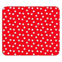 Christmas Pattern White Stars Red Double Sided Flano Blanket (small)