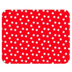Christmas Pattern White Stars Red Double Sided Flano Blanket (medium)
