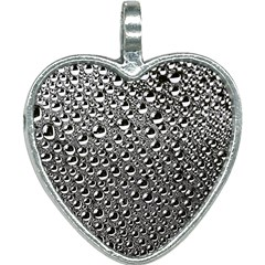 Water Bubble Photo Heart Necklace