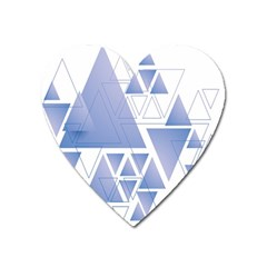 Triangle Geometry Heart Magnet