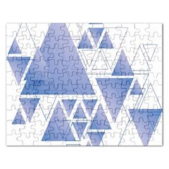 Triangle Geometry Rectangular Jigsaw Puzzl by Jojostore