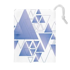Triangle Geometry Drawstring Pouch (xl) by Jojostore