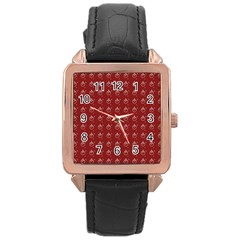 Arriere Avec Motif Rose Gold Leather Watch