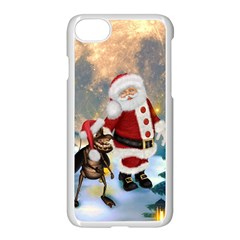 Merry Christmas, Santa Claus With Funny Cockroach In The Night Apple Iphone 8 Seamless Case (white) by FantasyWorld7