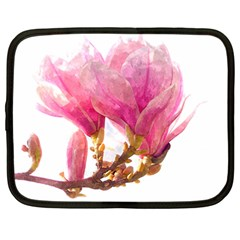 Wild Magnolia Flower Netbook Case (large) by picsaspassion