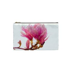 Wild Magnolia Flower Cosmetic Bag (small) by picsaspassion