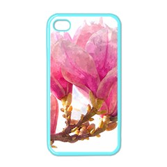 Wild Magnolia Flower Apple Iphone 4 Case (color) by picsaspassion