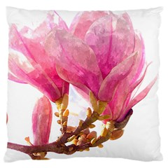 Wild Magnolia Flower Large Cushion Case (one Side) by picsaspassion