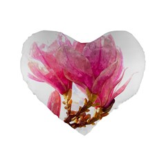 Wild Magnolia Flower Standard 16  Premium Heart Shape Cushions by picsaspassion
