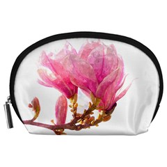 Wild Magnolia Flower Accessory Pouch (large) by picsaspassion