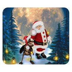 Merry Christmas, Santa Claus With Funny Cockroach In The Night Double Sided Flano Blanket (small)  by FantasyWorld7