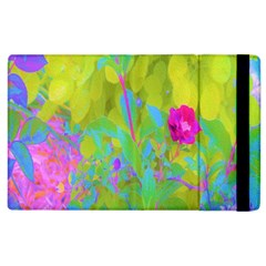 Red Rose With Stunning Golden Yellow Garden Foliage Apple Ipad 3/4 Flip Case