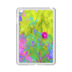 Red Rose With Stunning Golden Yellow Garden Foliage Ipad Mini 2 Enamel Coated Cases by myrubiogarden