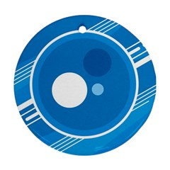 Background Blue Modern Creative Round Ornament (two Sides)