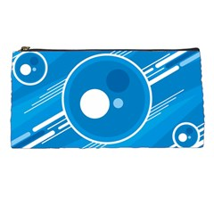 Background Blue Modern Creative Pencil Cases
