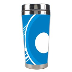 Background Blue Modern Creative Stainless Steel Travel Tumblers