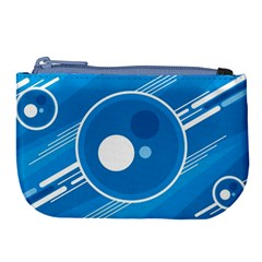 Background Blue Modern Creative Large Coin Purse