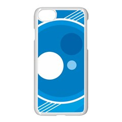 Background Blue Modern Creative Apple Iphone 7 Seamless Case (white)