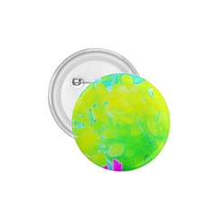 Fluorescent Yellow And Pink Abstract Garden Foliage 1 75  Buttons