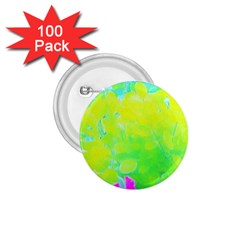 Fluorescent Yellow And Pink Abstract Garden Foliage 1 75  Buttons (100 Pack)  by myrubiogarden