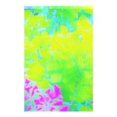 Fluorescent Yellow And Pink Abstract Garden Foliage Shower Curtain 48  X 72  (small)