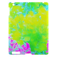 Fluorescent Yellow And Pink Abstract Garden Foliage Apple Ipad 3/4 Hardshell Case