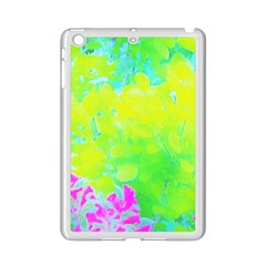 Fluorescent Yellow And Pink Abstract Garden Foliage Ipad Mini 2 Enamel Coated Cases by myrubiogarden