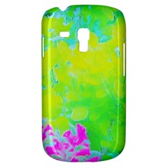 Fluorescent Yellow And Pink Abstract Garden Foliage Samsung Galaxy S3 Mini I8190 Hardshell Case by myrubiogarden