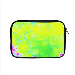 Fluorescent Yellow And Pink Abstract Garden Foliage Apple Macbook Pro 15  Zipper Case