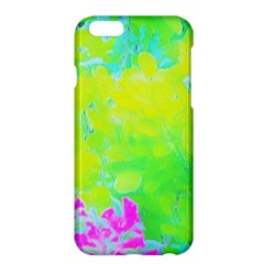 Fluorescent Yellow And Pink Abstract Garden Foliage Apple Iphone 6 Plus/6s Plus Hardshell Case