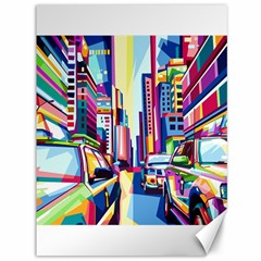 City Street Car Road Architecture Canvas 36  X 48