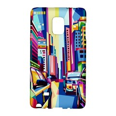 City Street Car Road Architecture Samsung Galaxy Note Edge Hardshell Case