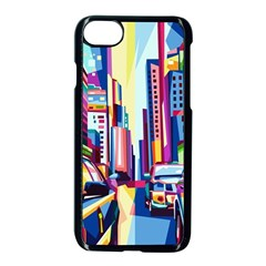 City Street Car Road Architecture Apple Iphone 7 Seamless Case (black) by Bejoart