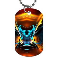 Duck Crazy Duck Abstract Dog Tag (one Side)