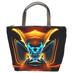 Duck Crazy Duck Abstract Bucket Bag
