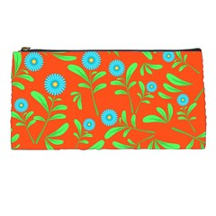 Background Texture Seamless Flowers Pencil Cases