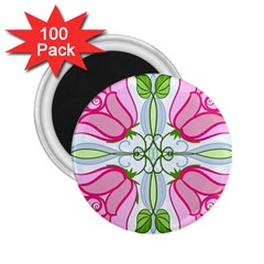 Figure Roses Flowers Ornament 2 25  Magnets (100 Pack)