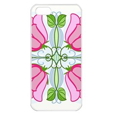 Figure Roses Flowers Ornament Apple Iphone 5 Seamless Case (white)