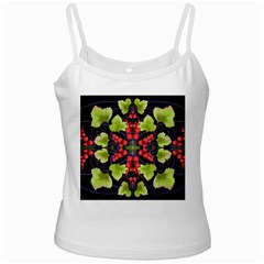 Pattern Berry Red Currant Plant White Spaghetti Tank