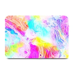 Background Drips Fluid Colorful Plate Mats