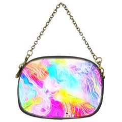 Background Drips Fluid Colorful Chain Purse (two Sides)