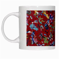 Painting Abstract Painting Art White Mugs