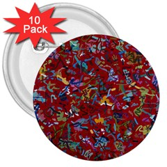 Painting Abstract Painting Art 3  Buttons (10 Pack)