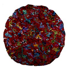 Painting Abstract Painting Art Large 18  Premium Round Cushions by Bejoart